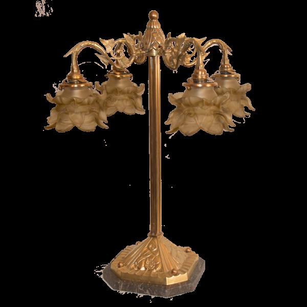 grande lampe de salon époque art nouveau 1900