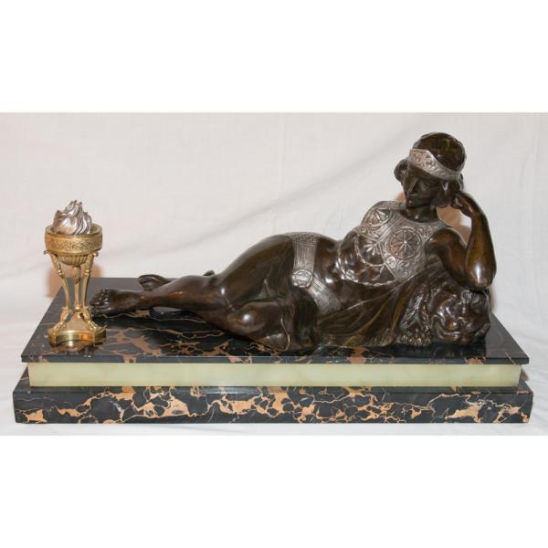 Odalisque En Bronze époque Art Déco Claude Mirval
