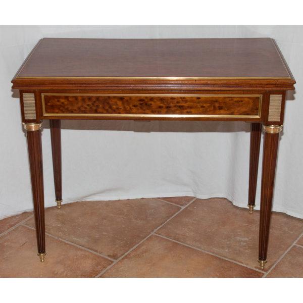 Table à Jeu En Acajou Style Louis XVI Fin XIXe Siècle