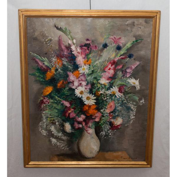Tableau Bouquet De Fleurs Signé Charles Picart Le Doux