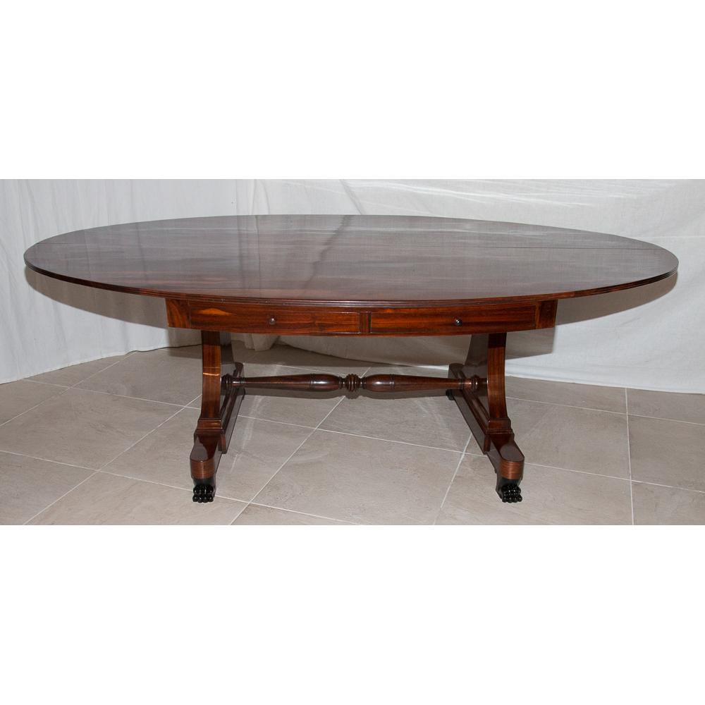 grande table ovale estampille c bigot poque restauration - Grande Table Ovale
