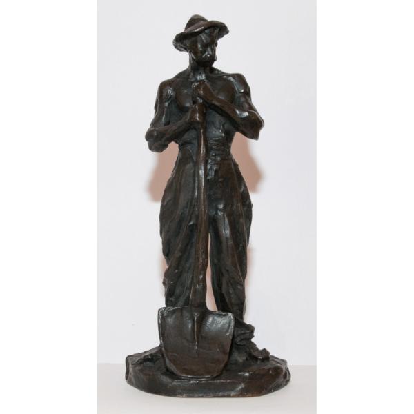 Le Terrassier En Bronze Signé Dalou 1838-1902
