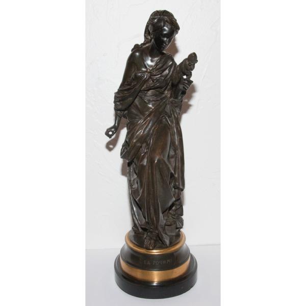 Bronze La Fourmi Signé Carrier Belleuse 1824-1887