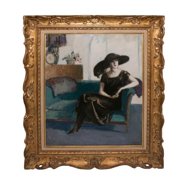 Femme Brune Au Divan Marcel Cosson 1878-1956