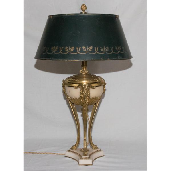 Lampe Athénienne style Louis XVI circa 1860