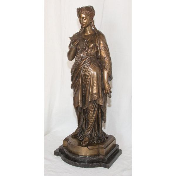 Bronze La Liseuse L Grégoire 1840-1890