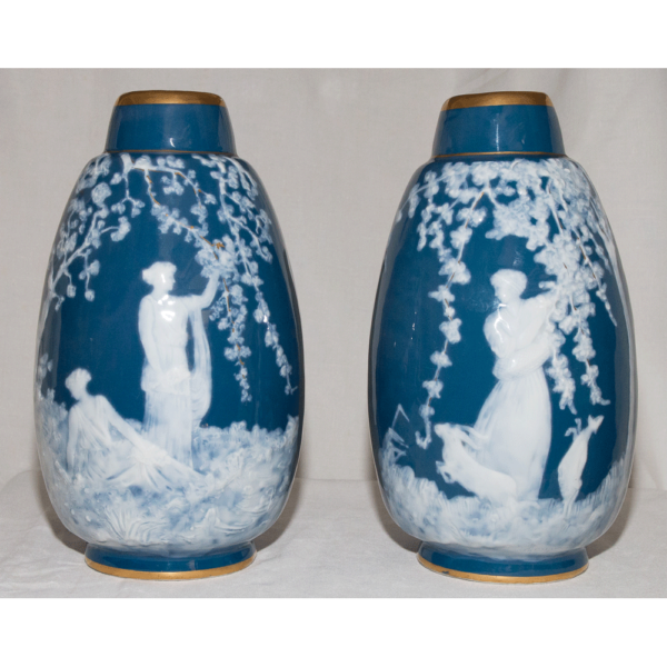 Paire De Vases Limoges Marcel Chaufriasse XXe Siècle